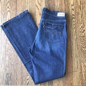 Like New Levi's 515 Bootcut Dark Wash
